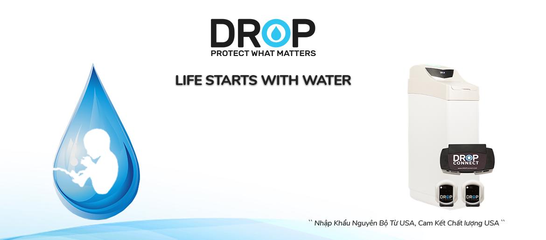 Bộ làm mềm nước Drop connect nhập khẩu Mỹ